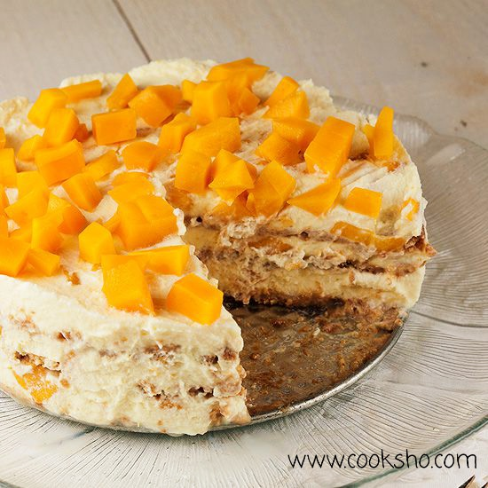 کیک یخچالی هلو