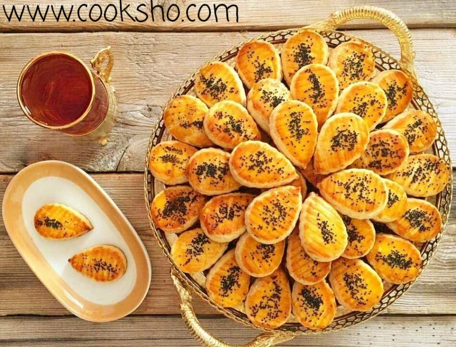 نان چای قزوین شیرینی عید نوروز ساده و ارزان