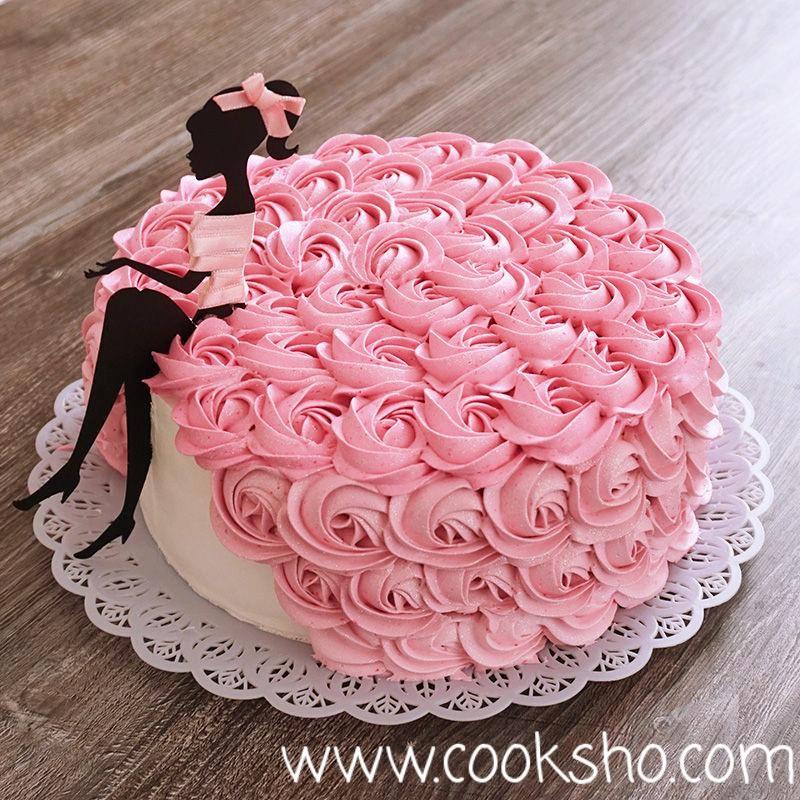 ایده تزئین کیک ساده در منزل با ماسوره