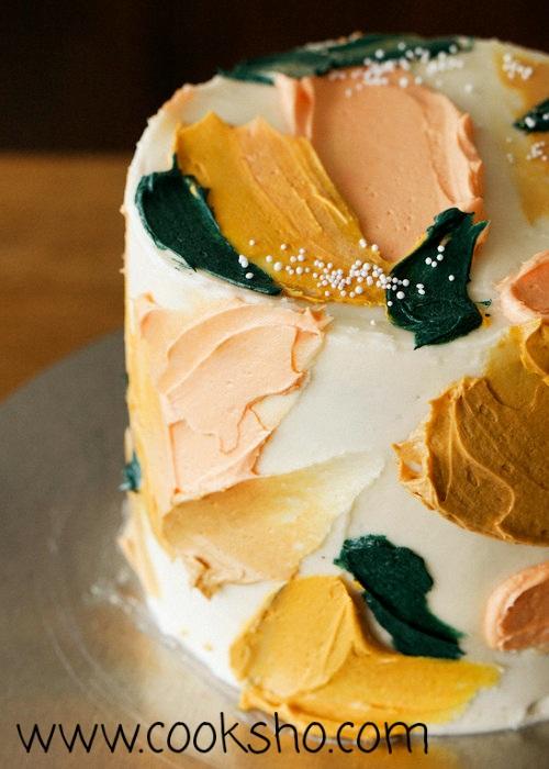 طرح ها و ایده های جالب تزئین کیک با رنگ های خوراکی